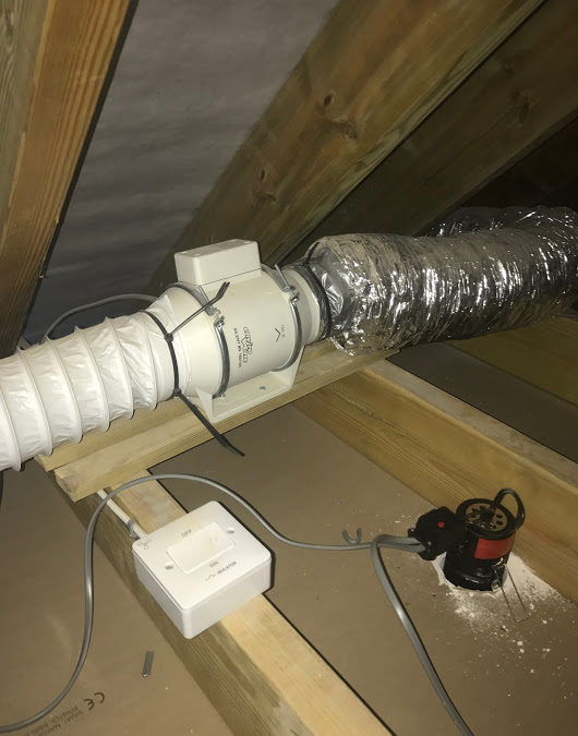 New Bathroom Inline Fan